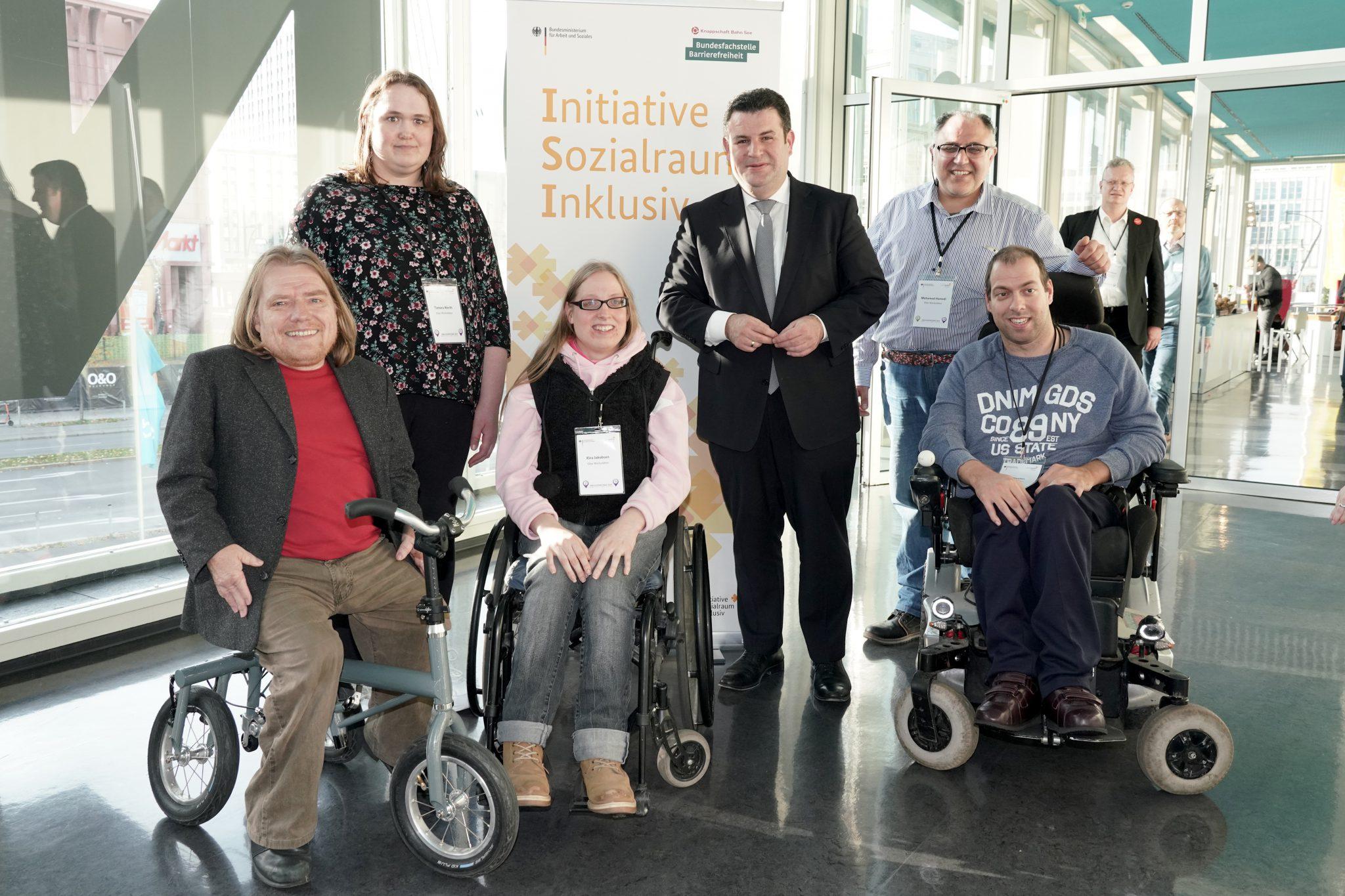 Austausch mit Arbeitsminister Hubertus Heil bei den Inklusionstagen 2019