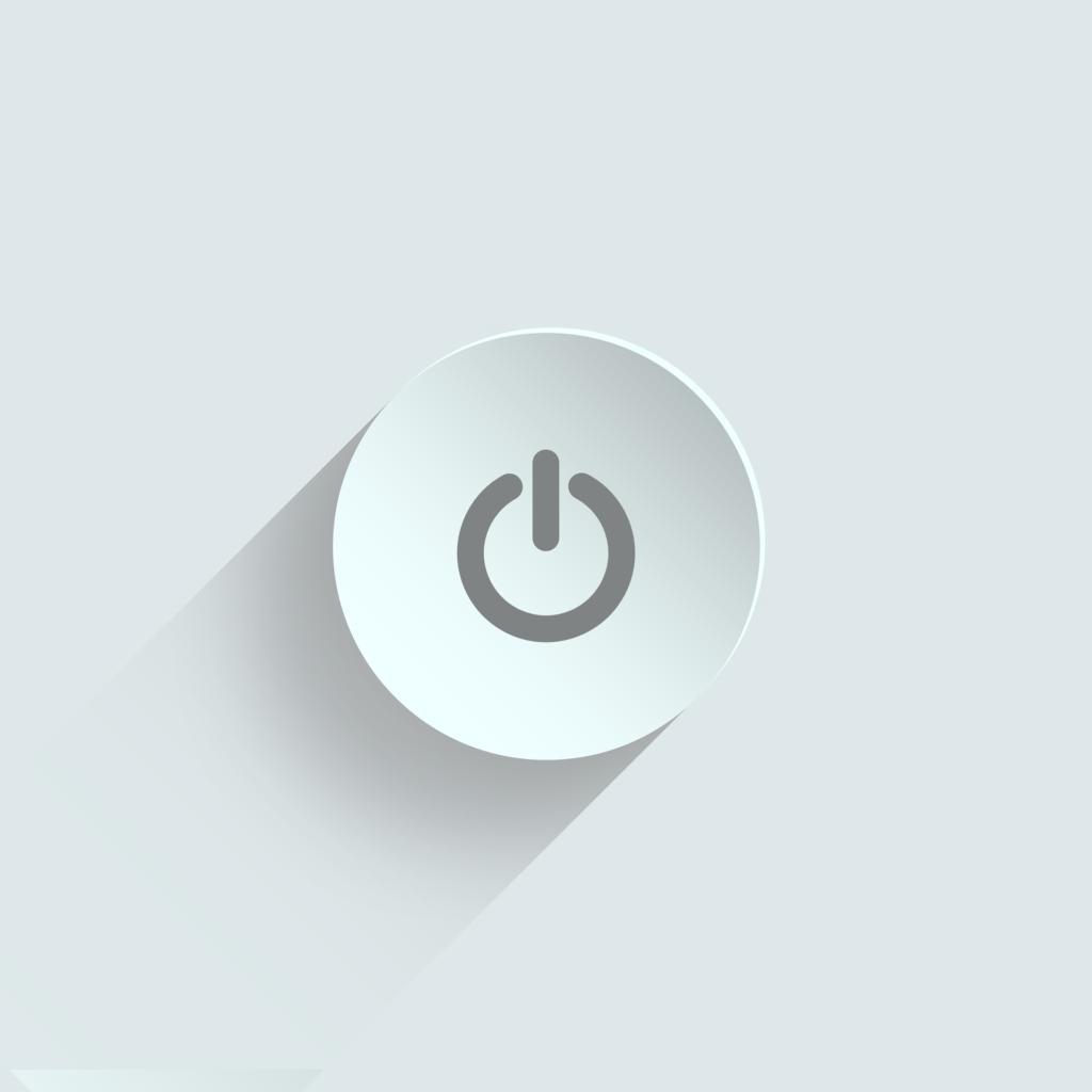 Anschaltknopf Computer